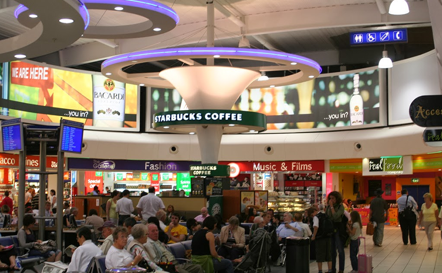 Shops in departure lounge