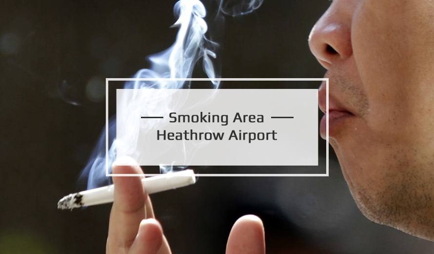 Smoking Area at Heathrow Airport