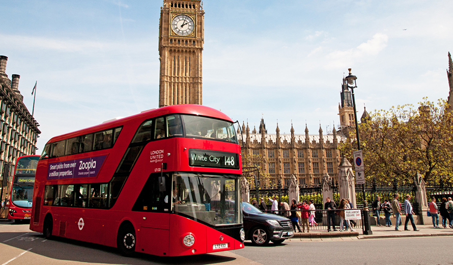 Traveling to London by coach